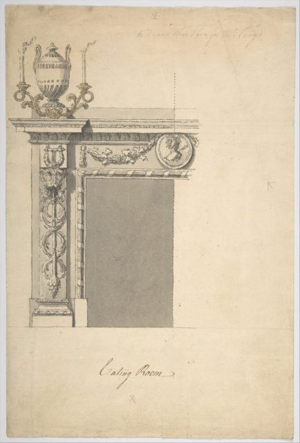Design for a Chimneypiece in the Eating-room, Danson Park, Kent