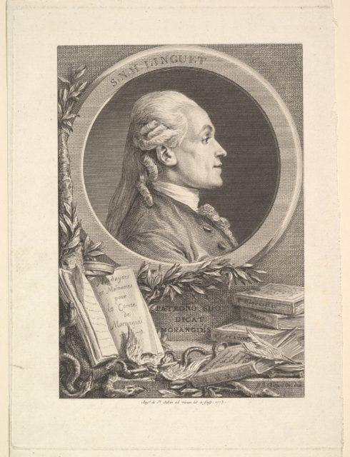 Portrait of Simon-Nicolas-Henri Linguet
