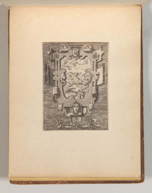 Targhe ed altri ornati di varie e capricciose invenzioni (Cartouches and other ornaments of various and capricious invention, page 40)