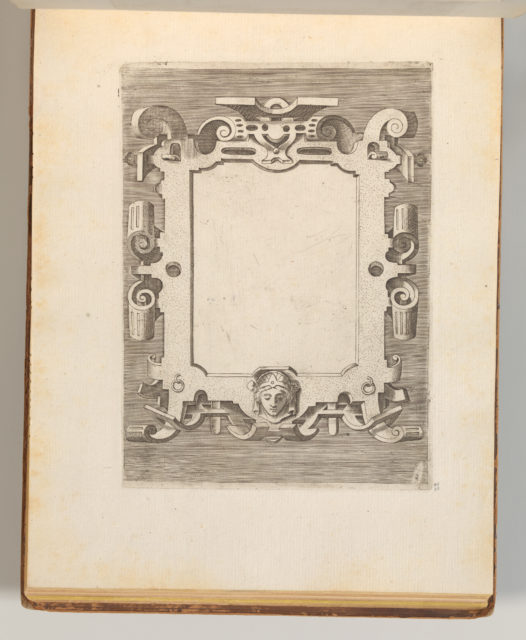 Targhe ed altri ornati di varie e capricciose invenzioni (Cartouches and other ornaments of various and capricious invention, page 27)