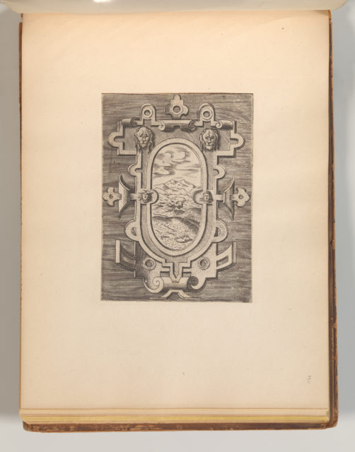 Targhe ed altri ornati di varie e capricciose invenzioni (Cartouches and other ornaments of various and capricious invention, page 39)