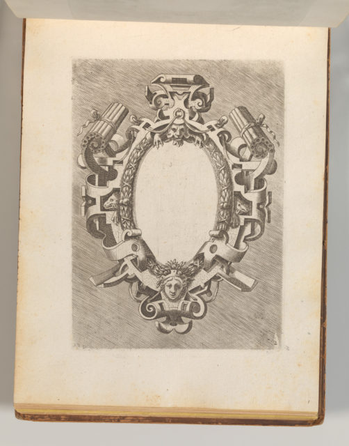 Targhe ed altri ornati di varie e capricciose invenzioni (Cartouches and other ornaments of various and capricious invention, page 22)