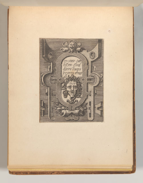 Targhe ed altri ornati di varie e capricciose invenzioni (Cartouches and other ornaments of various and capricious invention, page 34)