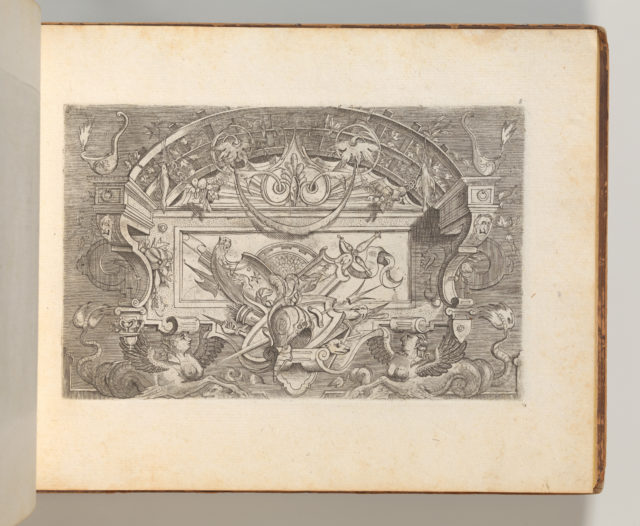 Targhe ed altri ornati di varie e capricciose invenzioni (Cartouches and other ornaments of various and capricious invention, page 8)