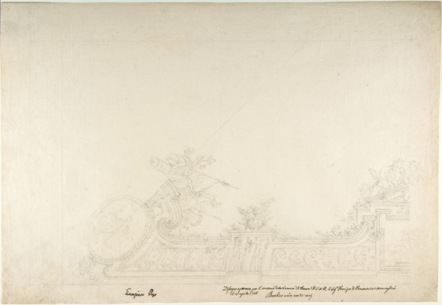 Design for One Eighth of a Ceiling of a Reception Room at the Royal Palace at Moncalieri