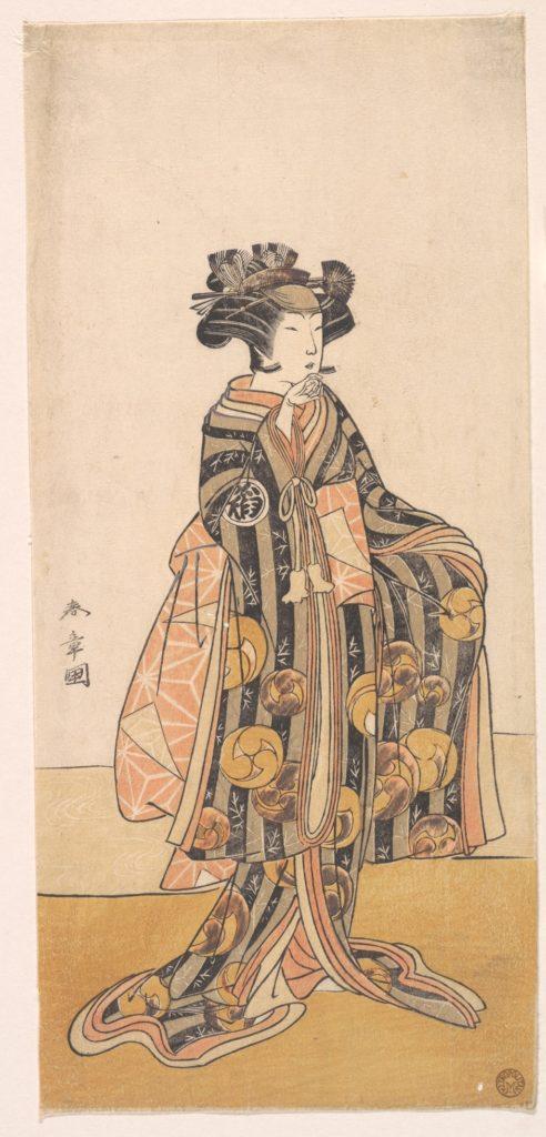 Yoshizawa Iroha as a Woman (Tomoe Gozen?) Standing on the Bank