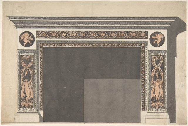 Design for a Chimney Piece in the Pompeian Style