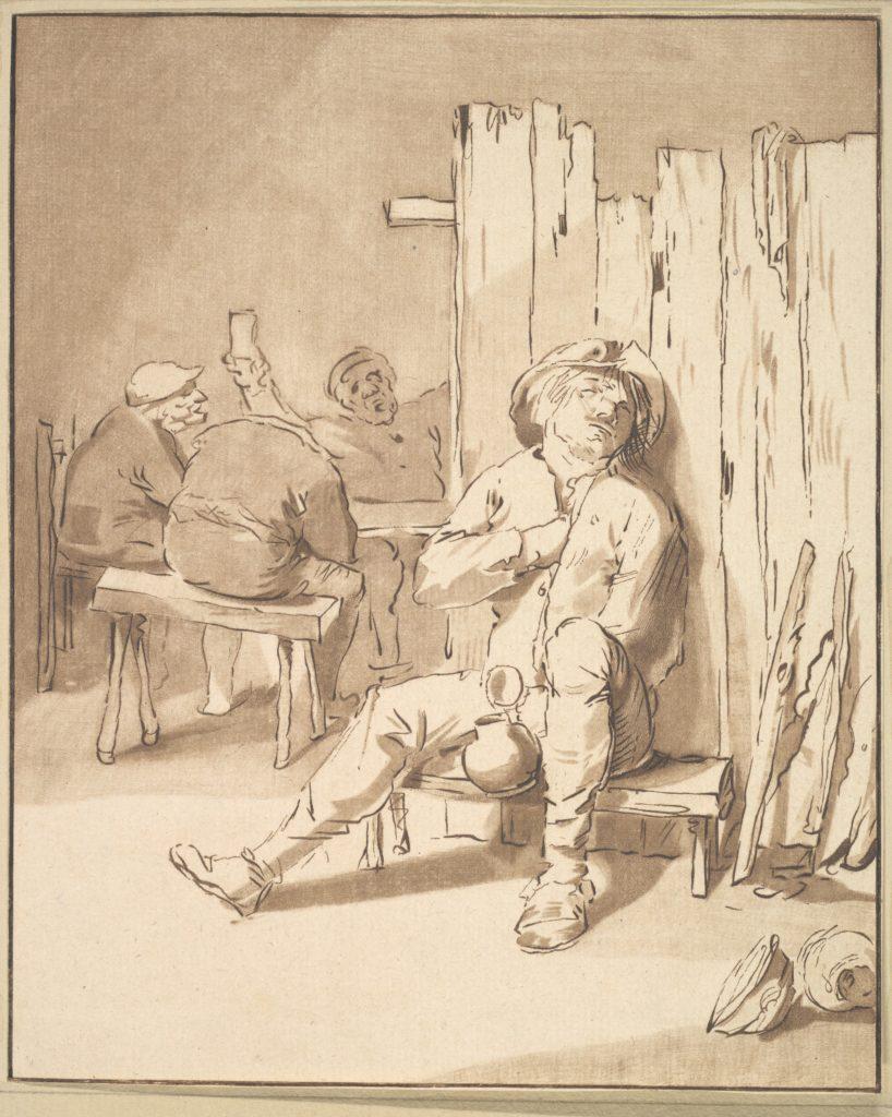 Drunken Farmer in an Inn