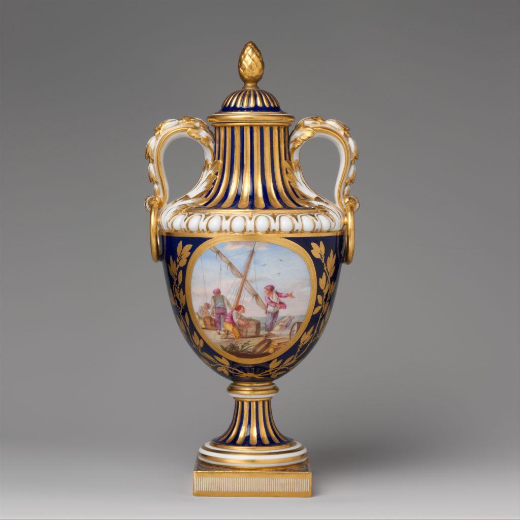 Vase with cover (vase de coté de Paris) (one of a pair)