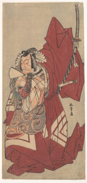 Kabuki Actor Ichikawa Danjūrō V in a Shibaraku (Stop Right There!) Role as Hannya no Gorō