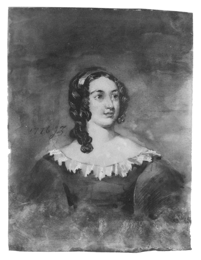 Portrait of a Woman; Possibly Mrs. Hattie Laroox