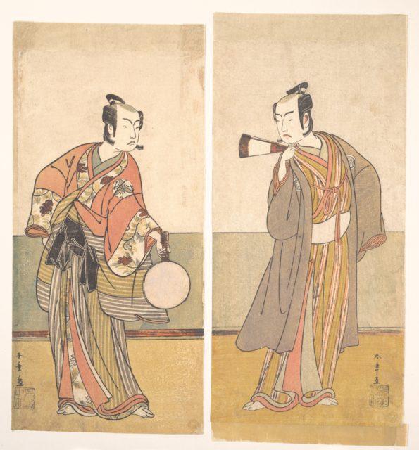 The Actors the Fourth Matsumoto Koshiro and the Arashi Sangoro