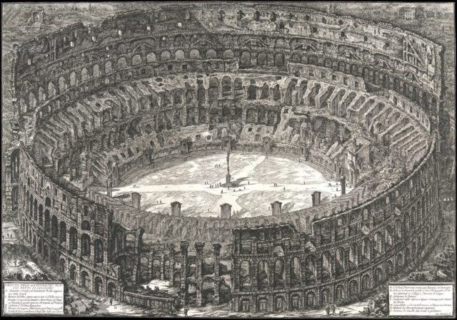 Veduta dell'Anfiteatro Flavio detto il Colosseo, from: 'Vedute di Roma' (Views of Rome)