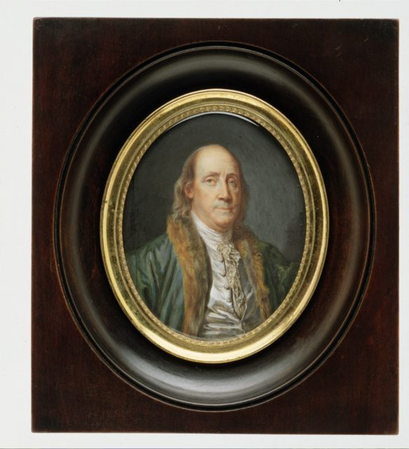 Benjamin Franklin (1706–1790), after a Painting by Greuze of 1777