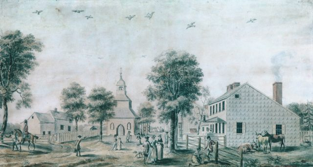 Brooklyn, Long Island (View of the Village Green)