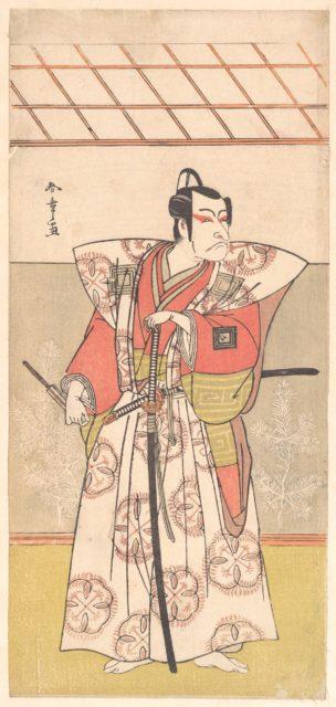 Ichikawa Danjuro V as a Samurai of High Rank
