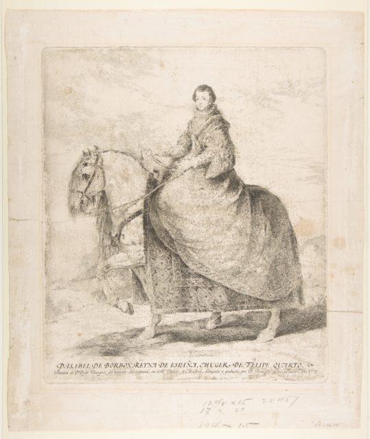 Isabel of Bourbon, Queen of Spain and wife of Philip IV (D. Isabel de Borbon, Reyna de España, muger de Felipe Quarto)