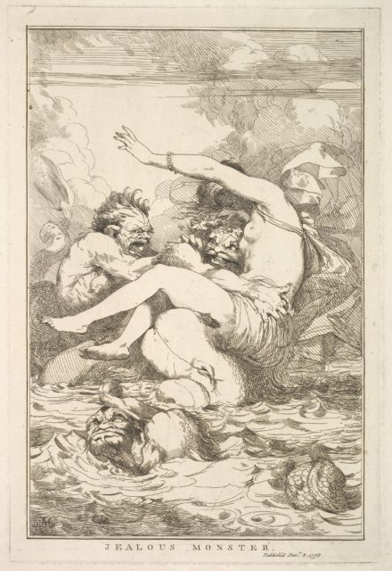 Jealous Monster (from Fifteen Etchings Dedicated to Sir Joshua Reynolds)