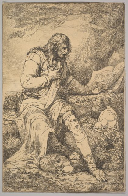 Salvator Rosa (from Fifteen Etchings Dedicated to Sir Joshua Reynolds)