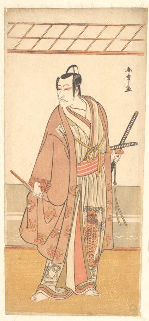 The Actor Ichikawa Danjuro V as a Samurai Attired in a Purple Haori (Coat)