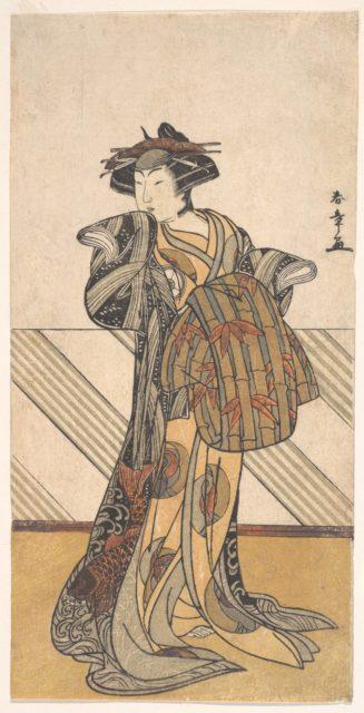 The Fourth Iwai Hanshiro as a Courtesan Dressed in a Pink Kimono