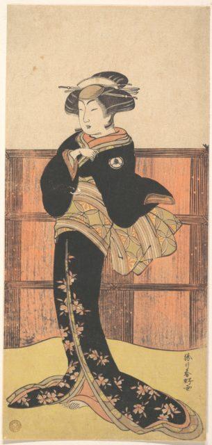 The Fourth Iwai Hanshiro as a Woman in a Black Kimono