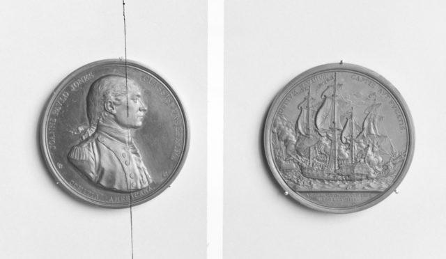 The Engagement of John Paul (Jones) (1747–92) with the British ship Serapis off Flamborough Head, September 23, 1779