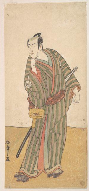 The Fourth Matsumoto Koshiro as an Otokodate Standing