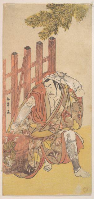 The Fourth Matsumoto Koshiro as an Outlaw Looking at a Wooden Ninsogaki