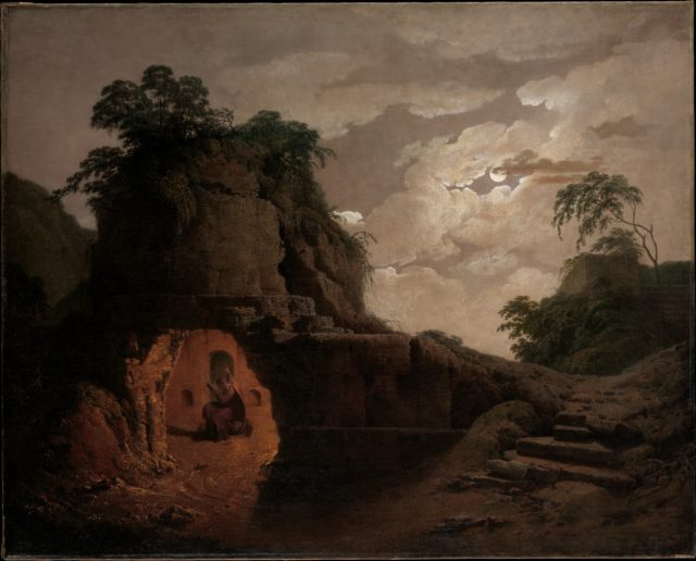 Virgil's Tomb by Moonlight, with Silius Italicus Declaiming