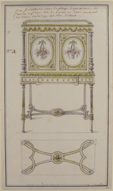 Design for an Upright Drop-Front Secretary