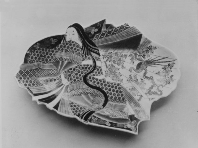 Dish in Shape of Japanese Court Woman