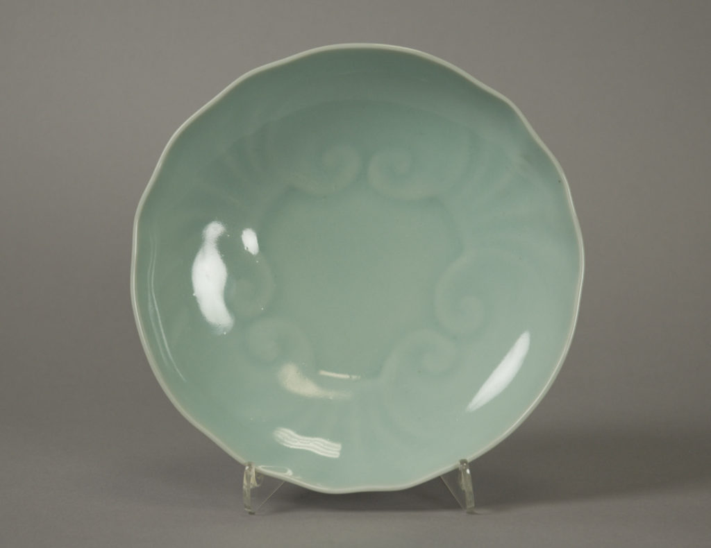 Dish Incised with Floral Design