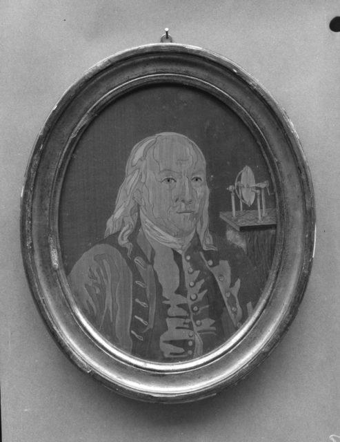 Portrait Panel of Benjamin Franklin