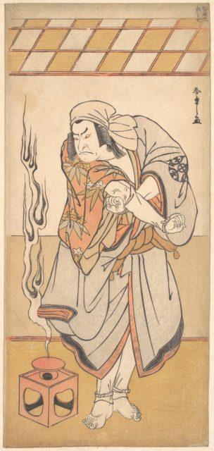 """The First Nakamura Nakazo in the Role of Chinzei Hachiro in the Drama """"Kite Kaeru nishiki no wakayagi"""""""