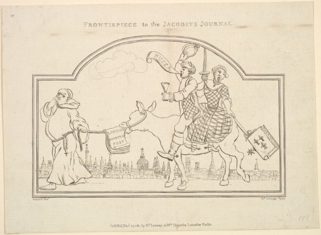 """Frontispiece to """"The Jacobite's Journal"""""""