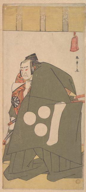 The Actor Nakamura Nakazo in Shibaraku in Dark Green Robes
