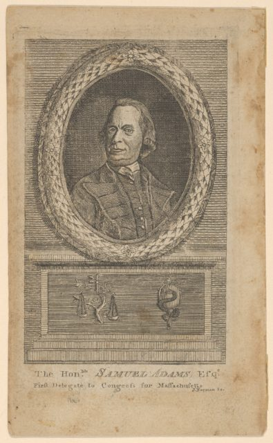 The Honorable Samuel Adams, Esq., First Delegate to Congress from Massachusetts