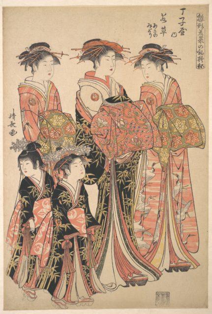 The Oiran Wakakusa of Chojiya