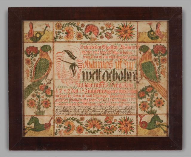 Birth and Baptismal Certificate