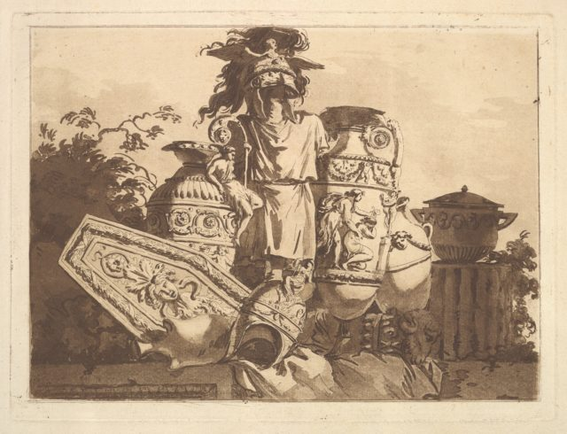 Composition with antiquities, from Recueil de Compositions par Lagrenée Le Jeune (Collection of Compositions by Lagrenée the Younger)