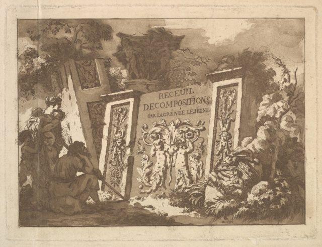 Frontispiece, from Recueil de Compositions par Lagrenée Le Jeune (Collection of Compositions by Lagrenée the Younger)