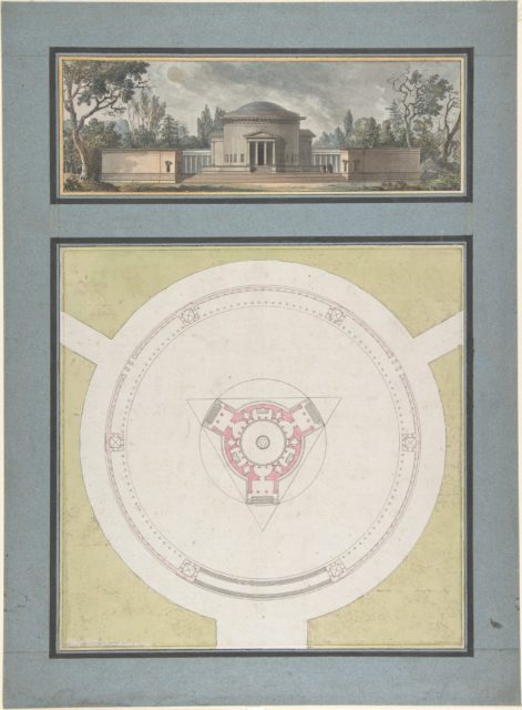 Project for a Temple Dedicated to the Trinity, Elevation and Plan