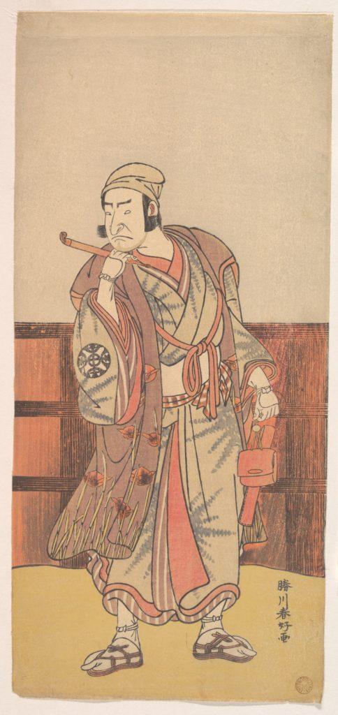The First Nakamura Nakazo in the role of Shimada no Hachizo