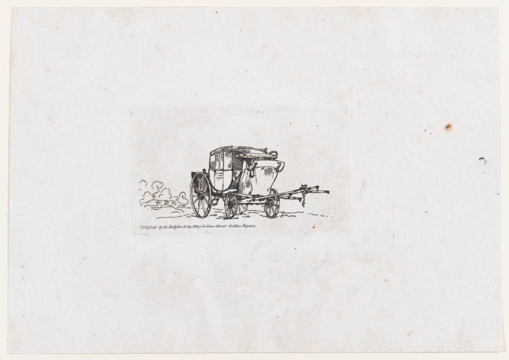A Post-chaise, from A New Book of Horses and Carriages
