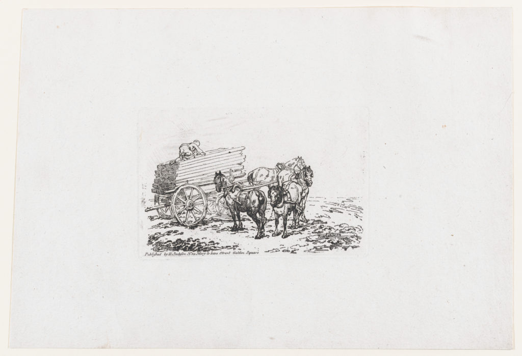 A Wagon Loaded With Timber, from A New Book of Horses and Carriages