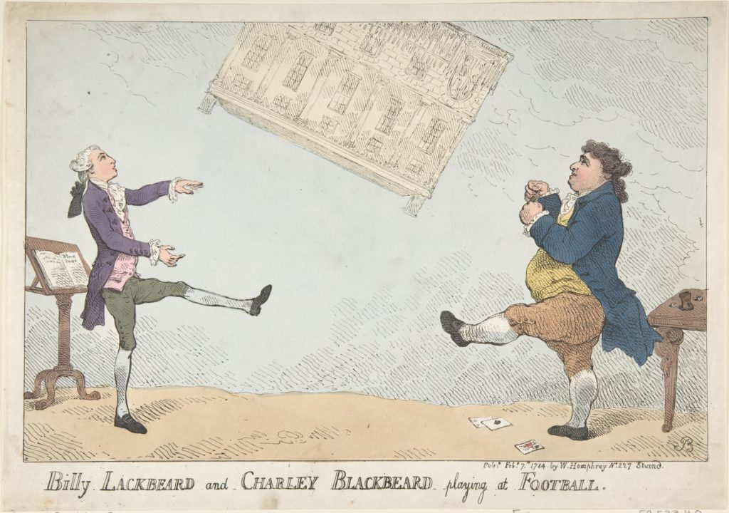 Billy Lackbeard and Charley Blackbeard playing at Football