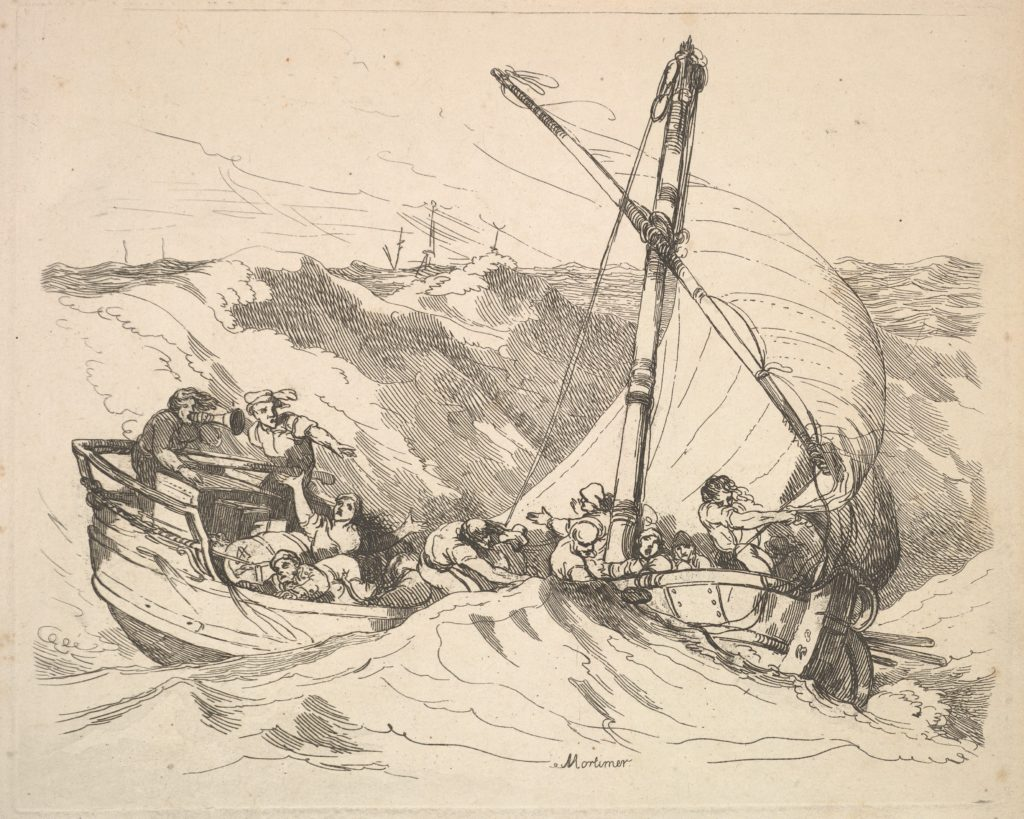 Boat in a Storm at Sea
