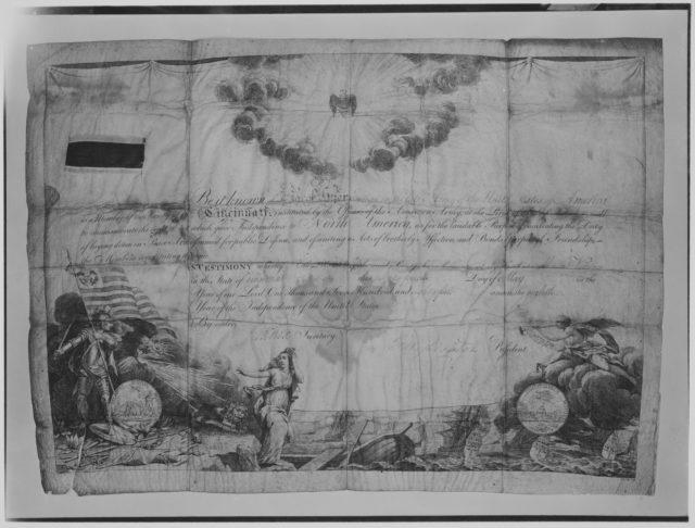 Certificate of Membership in the Society of Cincinnati