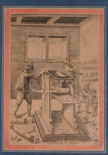 """Copper Plate Printers at Work"", Folio from the Davis Album"